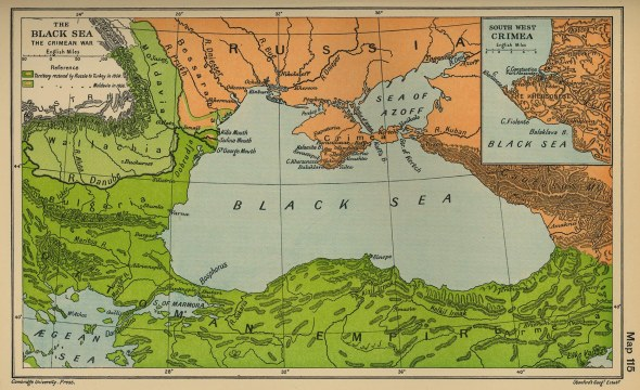 Crimean War - image from atlas published in 1912.