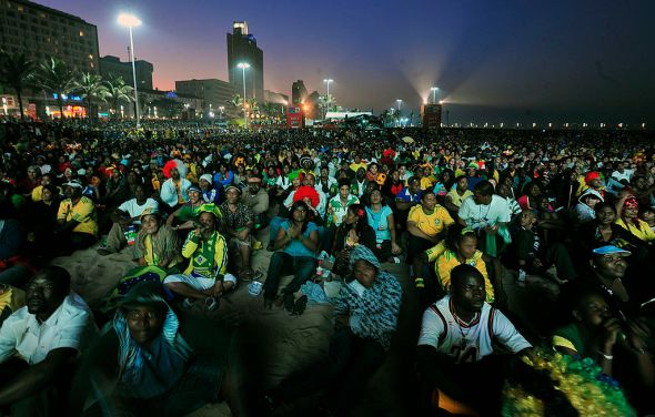Brazilians gather to watch the 2010 World Cup. Photo courtesy of Wikimedia Commons.