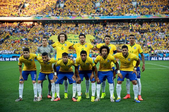 Brazil's starting 11 beat Croatia on June 12, in the opening match of the 2014 World Cup.